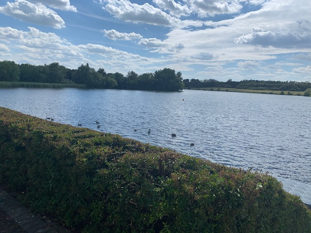 View over Caldecotte Lake, Milton Keynes