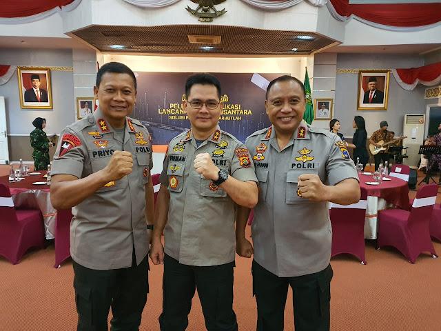 Peresmian Penggunaan Aplikasi Dashboard Lancang Kuning Yang Dilaksanakan Di Provinsi Riau Dihadiri Oleh Kapolda Jambi