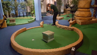 Playing at Paradise Island Adventure Golf in Cheshire Oaks in 2017
