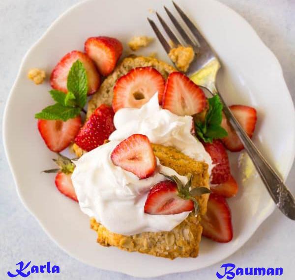 Gluten Free Strawberry baking-powder biscuit
