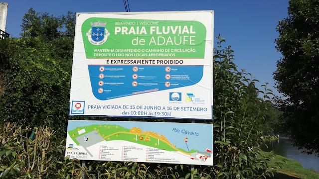 Placa da Praia Fluvial de Adaúfe