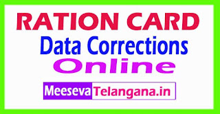 RATION CARD DATA CORRECTIONS SERVICE Online