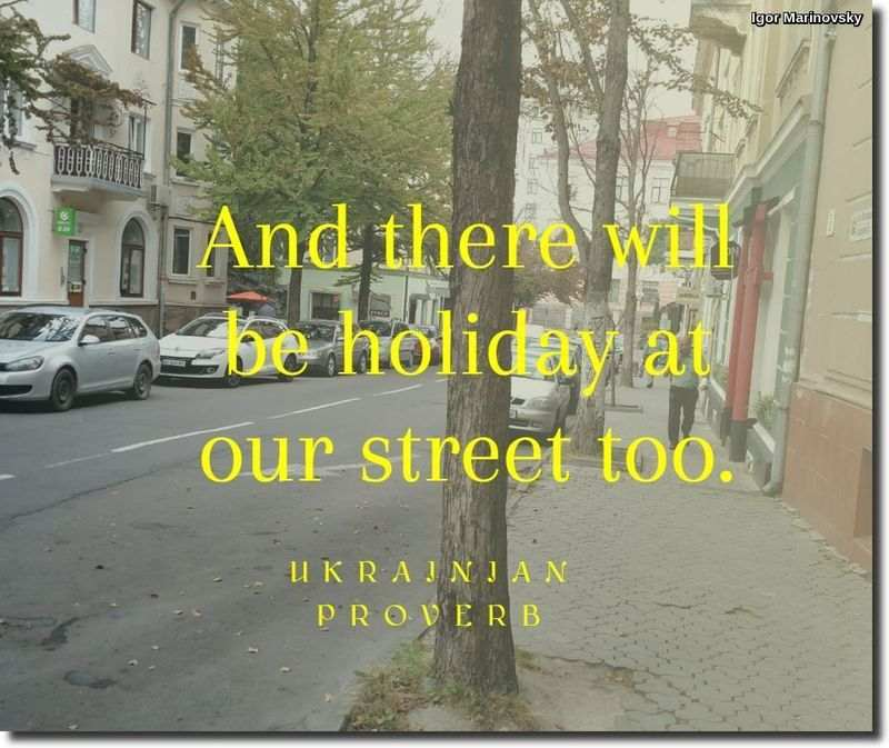And there will be holiday at our street too