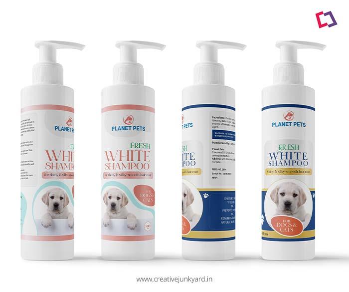 Pet shampoo label design