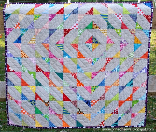 Modern Scrappy Baby Quilt - Free Pattern and Tutorial