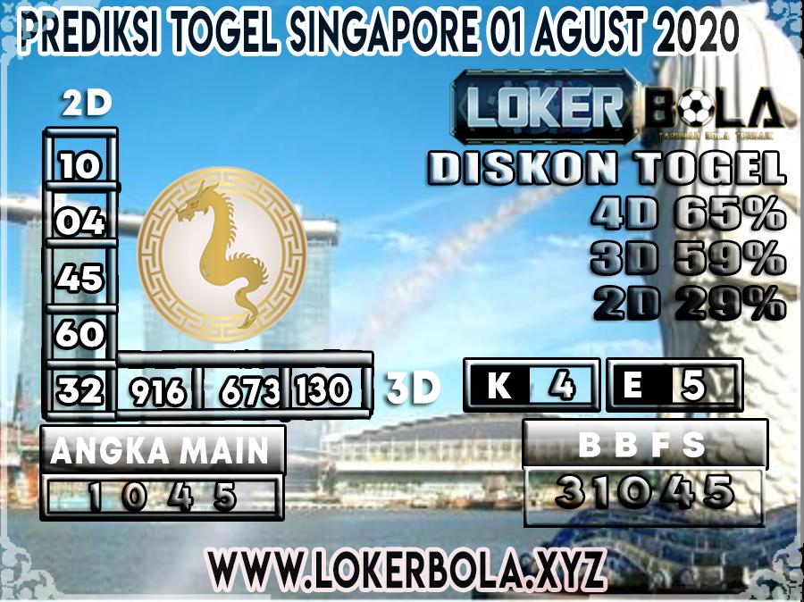 PREDIKSI TOGEL LOKERBOLA SINGAPORE 01 AGUSTUS  2020