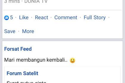 Penyebab fanspage Forum Satelit hilang di Facebook