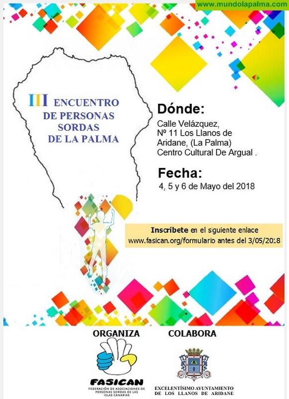 El Cabildo respalda la celebración del tercer Encuentro de Personas Sordas de La Palma