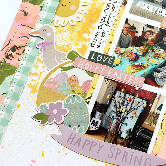 Easter Layout with the April Creative Kit   My Creative Scrapbook