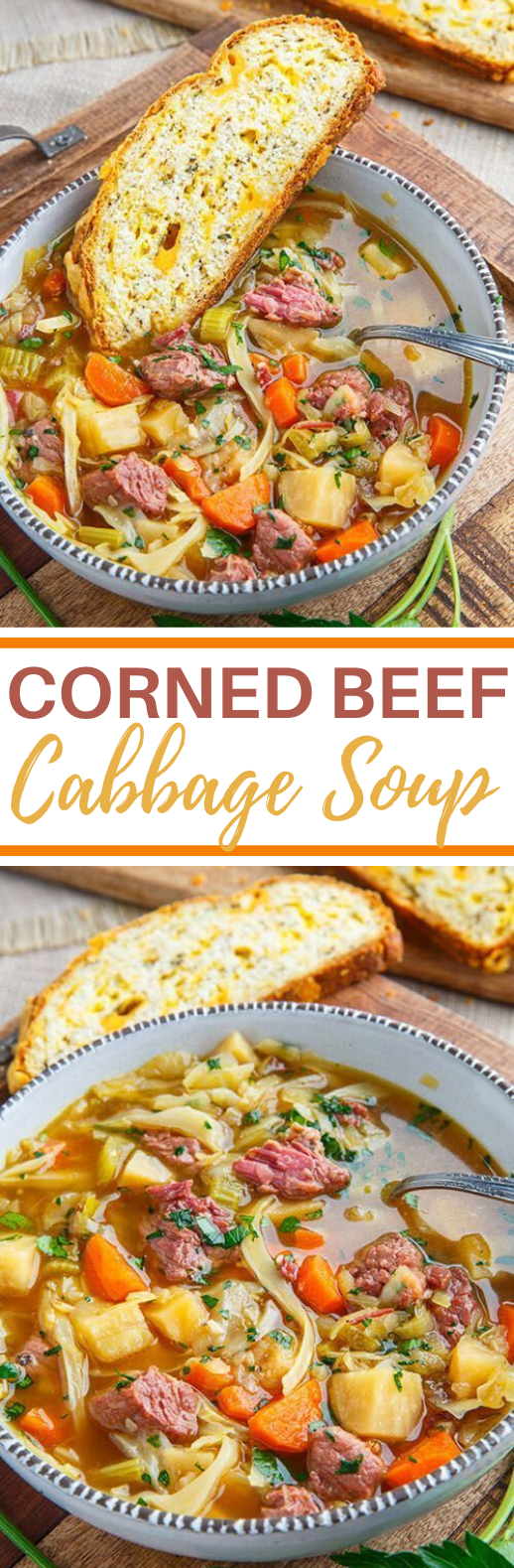 Corned Beef and Cabbage Soup #dinner #soup #comfortfood #beef #recipes