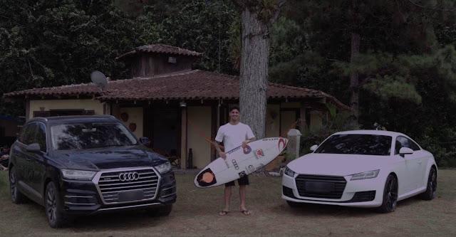 Surfista campeão Gabriel Medina troca Mitsubishi pela Audi