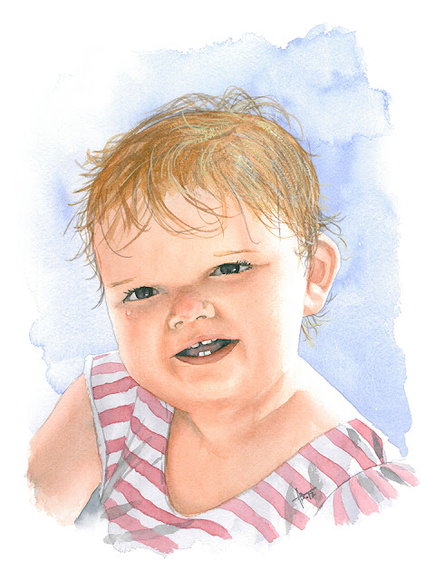 Beach Baby - watercolor