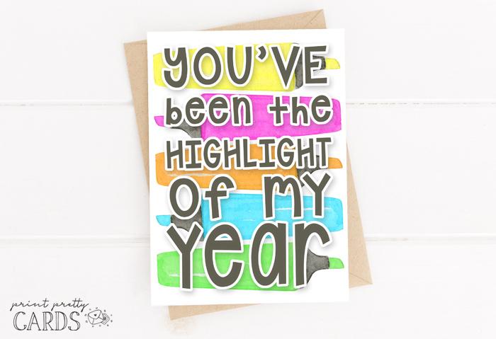 Teacher Highlighter Card