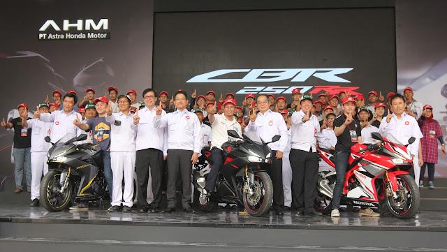 All New Honda CBR250RR Mulai Diproduksi di Pabrik AHM Karawang