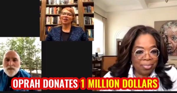 oprah donates 1 million dollars for coronavirus