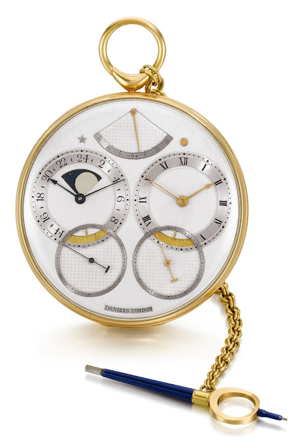 Sotheby's 2019 catalogue photograph of George Daniels Space Traveller I pocket watch, 1982