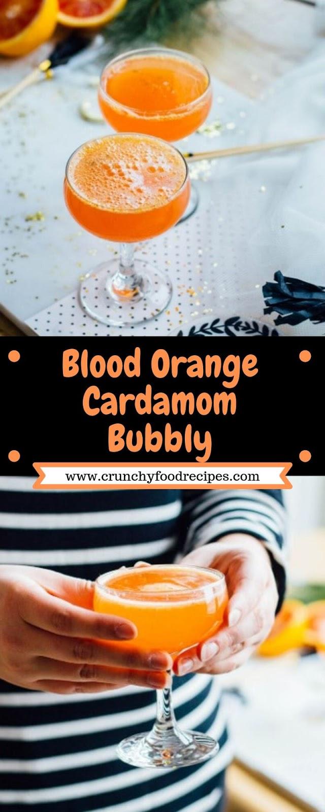 Blood Orange Cardamom Bubbly