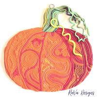 pumpkin oven bake clay diy idea halloween autumn decor fall