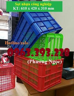 Sọt nhựa HS004, sọt nhựa cao 31cm, sóng nhựa rỗng đựng đồ 67