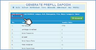 Cara Generate dan Download Prefill Dapodik 2019.b di Web Dapodikdasmen