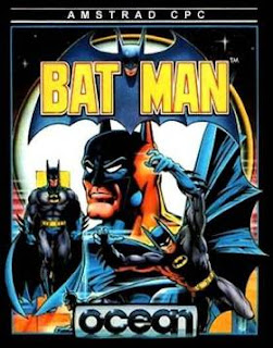 Official poster of the first Batman game by Ocean Software launched in 1986.
