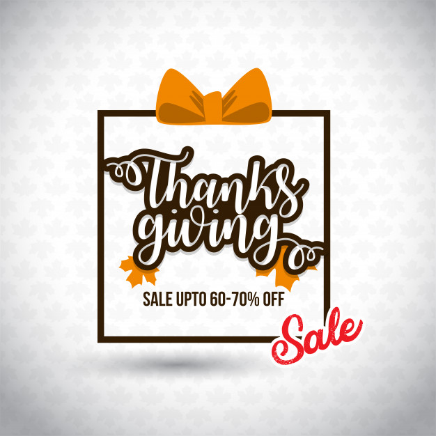 Thanksgiving Day Sale. Free Vector