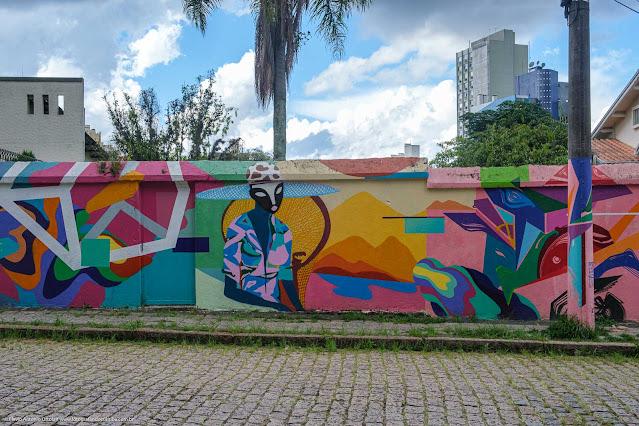 Grafite em um muro na Rua José Nicolau Abagge - detalhe