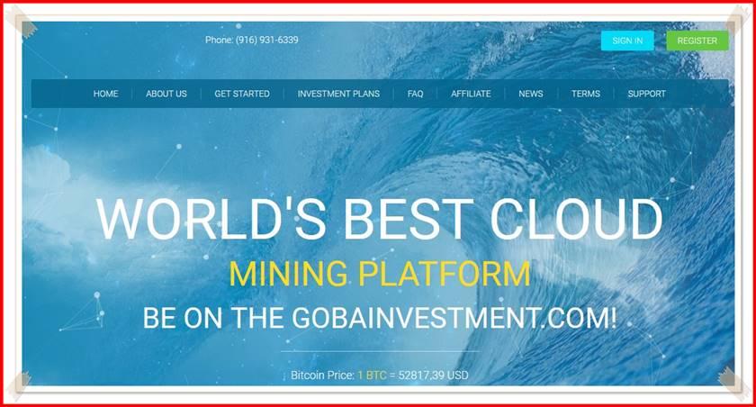 Мошеннический сайт goba-investment.com – Отзывы, развод, платит или лохотрон? Мошенники