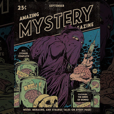 MondoCon 2019 Exclusive Amazing Mystery Magazine Pulp Cover Screen Print by Johnny Dombrowski