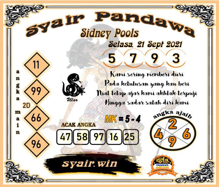 Syair Pandawa SDY Selasa 21-Sep-2021