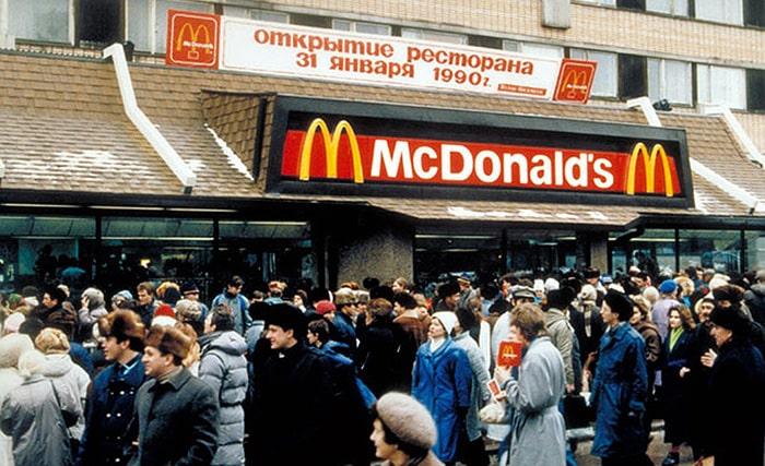 Первый ресторан компании Макдональдс в России