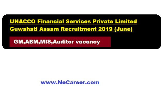 UNACCO Financial Services Private Limited Guwahati Assam Jobs 2019 (June)