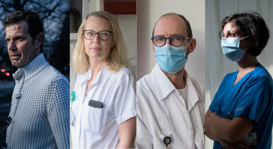 From Geneva to Neuchâtel, these four caregivers testify to their exhaustion. - © Eddy Mottaz / Le Temps - François Wavre | Monday13