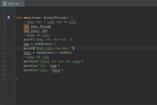 [Series Kotlin] Bài 3: Cơ bản về lập trình với Kotlin Cr Thắng
