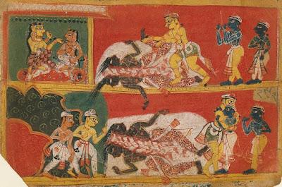 Bhima kills Jarasandha