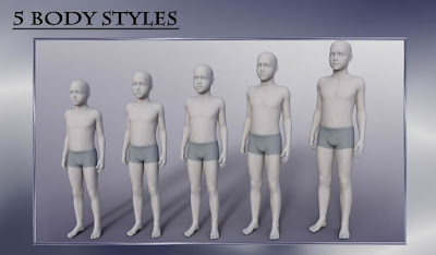 Body Shapes: Younger Genesis 3 Male