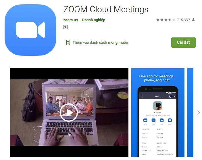 Tải Zoom trên Google Play