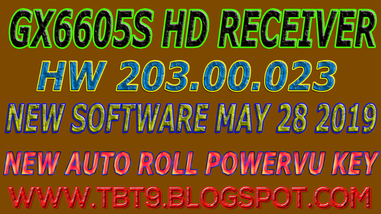 GX6605S HD RECEIVER HARDWARE-203 00 023 NEW SOFTWARE WITH