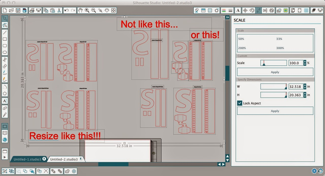 Stencils, decals, Silhouette, cutting, tricks, tips, resize