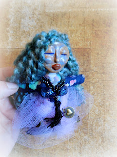 Stella the Goddess of Authenticity Miniature Folk Art Spirit Doll