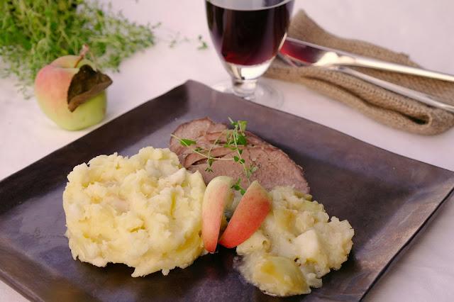 potatismos med palsternacka och äpple