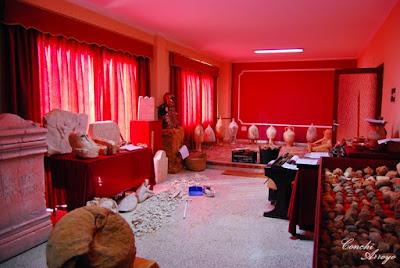 Panoramica de toda la sala del futuro museo arqueológico de L'Enova