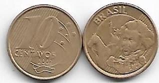 Moeda de 10 centavos, 2002
