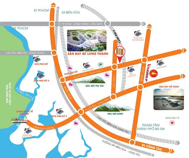 Vị trí Đất nền Phú Mỹ Future City Bà Rịa
