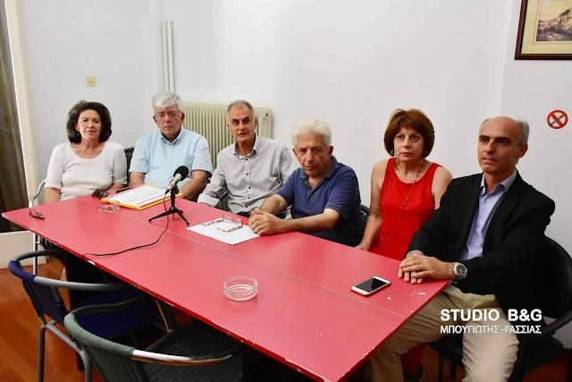 Επίσημη παρουσίαση του ψηφοδελτίου του ΣΥΡΙΖΑ στην Αργολίδα (βίντεο)