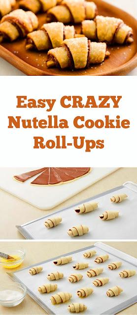 Easy CRAZY Nutella Cookie Roll-Ups #easy #crazy #easydessert #nutella #cookie #rollups #easycookie #whole30 #ketodessert #snacks