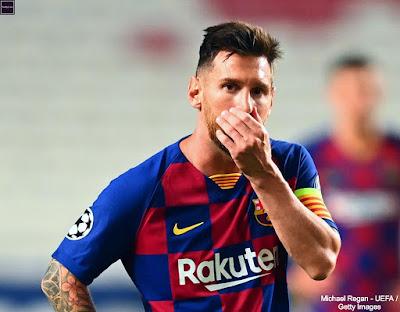 رحيل ميسي عن برشلونة 2020