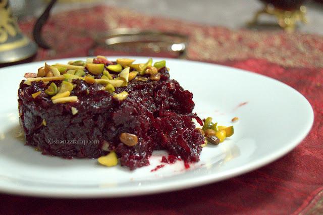 Red Velvet Halwa ~ Beetroot Halwa ~ Beetroot Dessert
