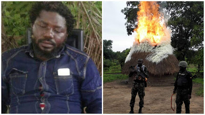 VIDEO: Benue Most Wanted Criminal 'Gana' Escape Death As Troops Neutralised His Gang Members
