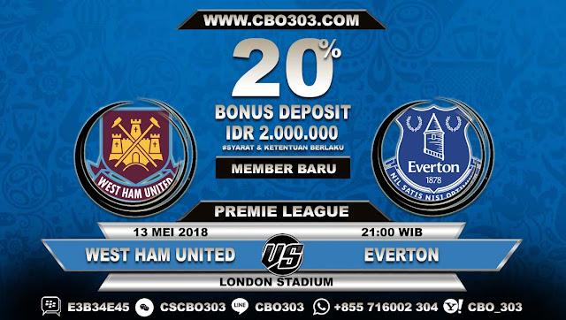 Prediksi Bola West Ham United VS Everton 13 Mei 2018